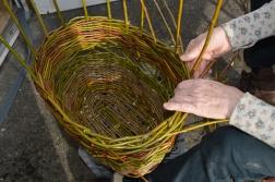 Willow wicker harvest basket