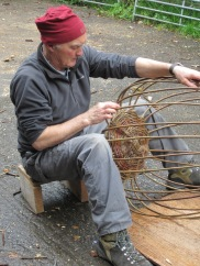 Basketry Joe hogan with big round basket good