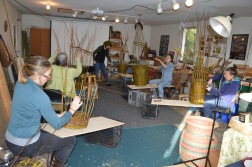 Willow basketry classroom