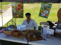Bastyr herb faire- Kent a Practicum student helping out!