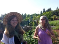 Bastyr herb faire- coleading a spontaneous plant walk with Suzanne Jordon