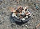 Traditional foods- hot rock cooking