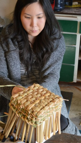 Rush basketry class