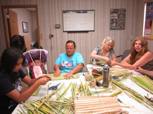 Klamath Tribe- preparing and making tule mats