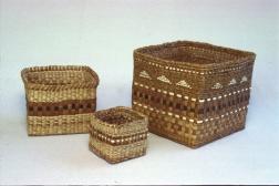 Baskets cedar bark plaited