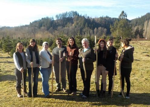 Walking sticks and digging tongs