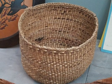 Quinalt twined rush basket
