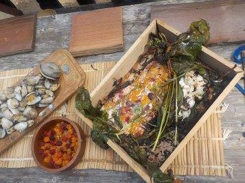 Trad foods clams salmon camas
