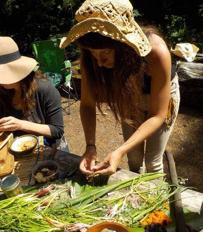 Traditional foods nodding onion prep