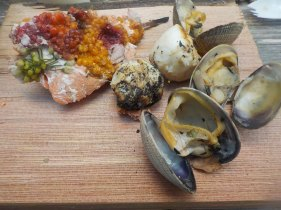 Salmon, camas, clams and salmonberry