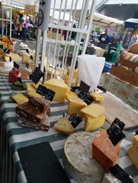 Farmers market cheeses