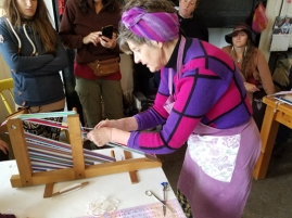 Mairead Sharry and crios weaving