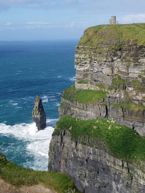 Cliffs of Moher with Innishear in the background