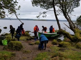 Coming ashore from Loch Leine
