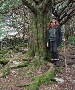 Yew grove and Heidi