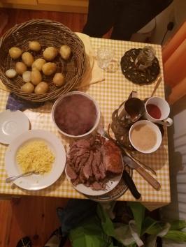 Lamb roast dinner