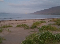 Full harvest moon on the Dingle