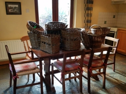 Baskets left behind to follow us home