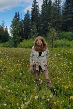 Heidi in a favorite place