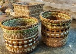 Cedar and sweetgrass baskets