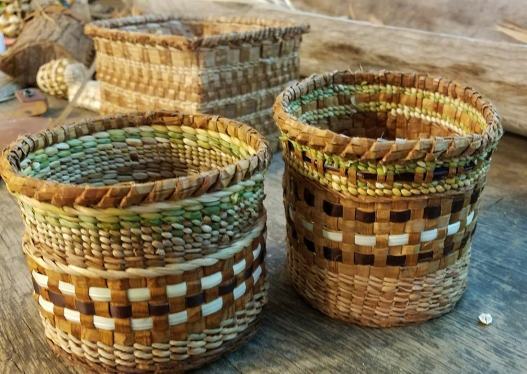 Cedar and sweetgrass baskets