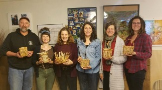 Cedar root clam baskets