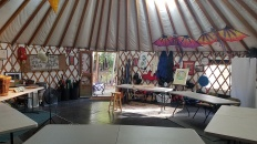 Scholars Garden yurt class set up