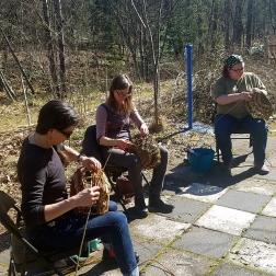 4 Wicker weaving along the river