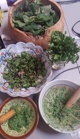 3 Spring greens food