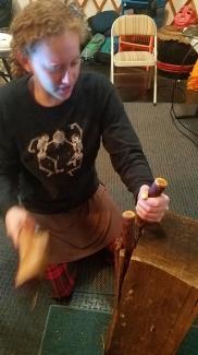 5 Jess splitting cedar plank web